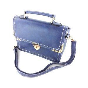 Elegant blue buckle small purse